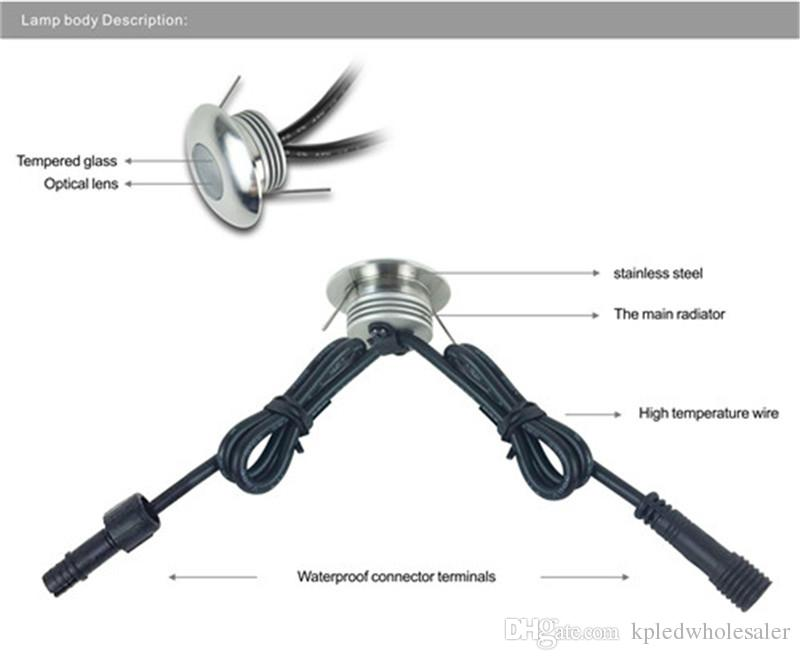 8-/ комплект Встраиваемый 1W LED DC12V Напольные светильники для сада Наружное освещение Водонепроницаемый IP67 Подземная лампа с IP67 CE Driver