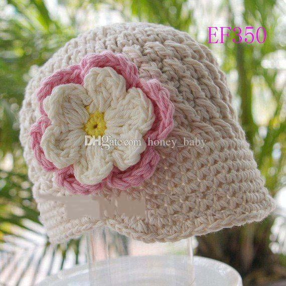 Princess Flower Hat Baby Kids Infant Toddler Girls Newborn Autumn Winter Children Beanie Crochet Knitted Headwear Caps Cotton Photo Props