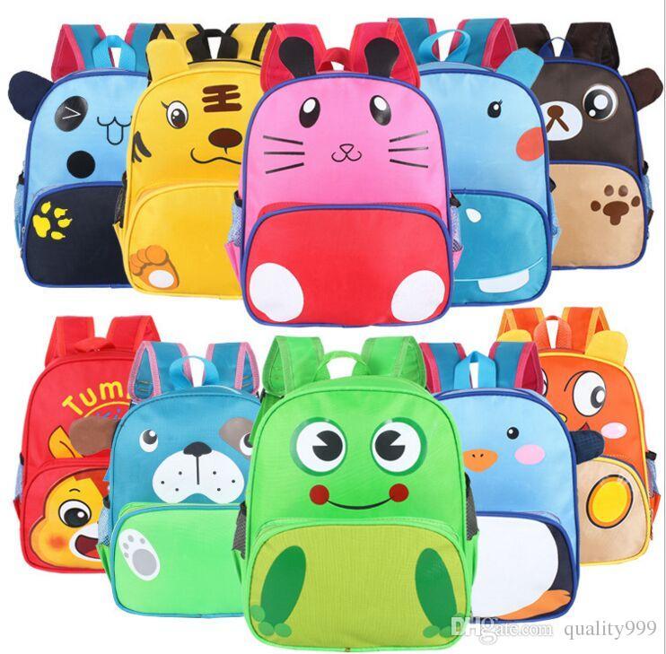 kids cartoon animal shoulder bags boys girls cute backpacks schoolbags children baby toddler