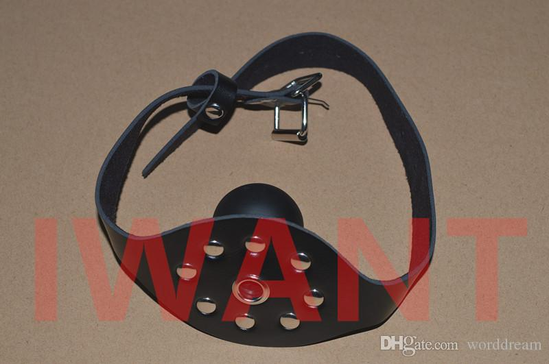 Opening Mouth Plug Ball Gag Bondage Slave Bdsm Restraint Belt In Adult Games For Couples , Fun Fetish Sex Toys For Women And Men