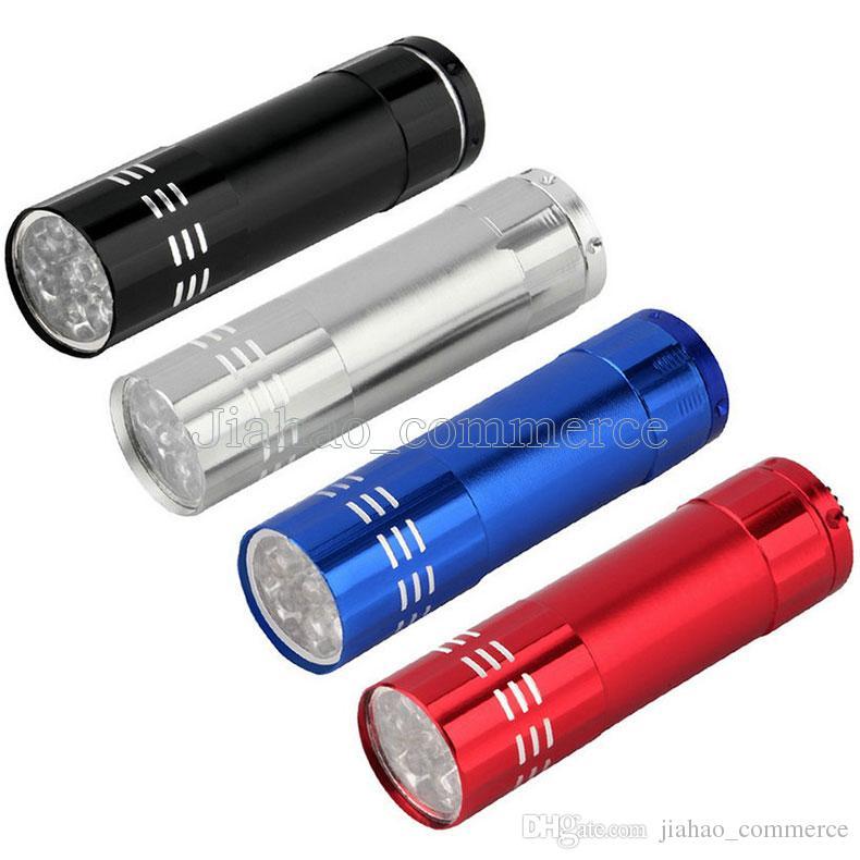 9LED Мини Алюминиевый УФ Ультрафиолетовый 9 LED Фонарик Blacklight Факел Лампы 30 ШТ.