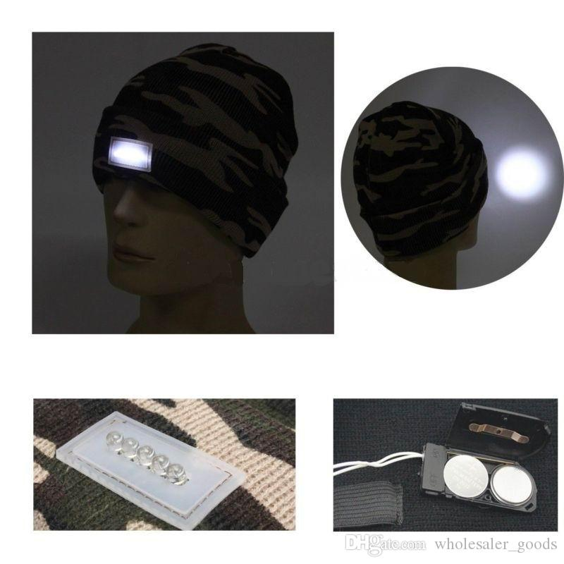 Snapback Hats LED Light Cap Beanie Hat with 2 Batteries for Hunting Camping Running Fishing Vintage Hats