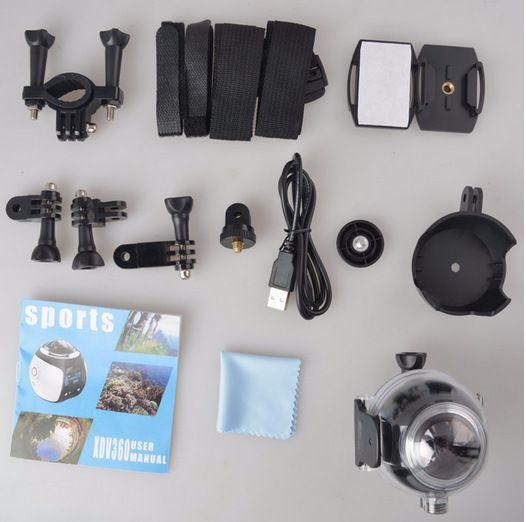 V1 4K VR 360 Degree Action Camera Wifi Mini 2448*2448 16MP Ultra HD Panorama Camera 3D Waterproof VR Camera
