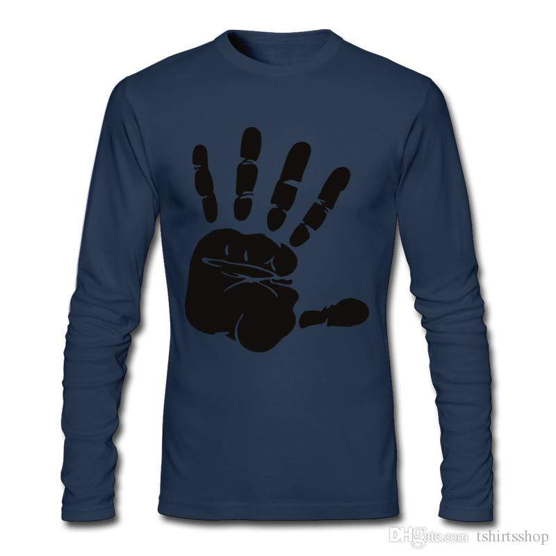 Discount Low Price Best Sell Tees Black Hand Imprinting on Men's T-shirt Cotton Fashion For Men's T-shirts