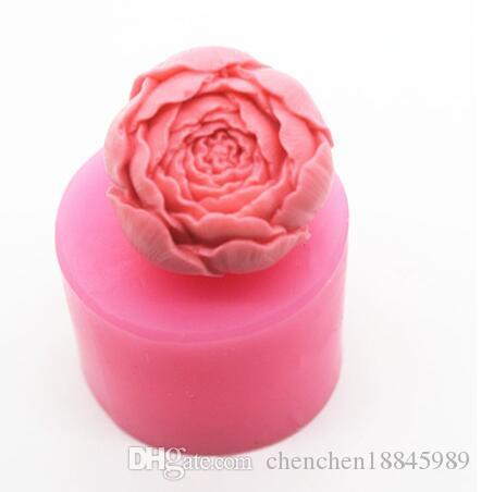 Wholesale rose flower Silicone Fondant lace Mould 3D Soap Candle Chocolate Candy Cake decoration Polymer clay baking DIY