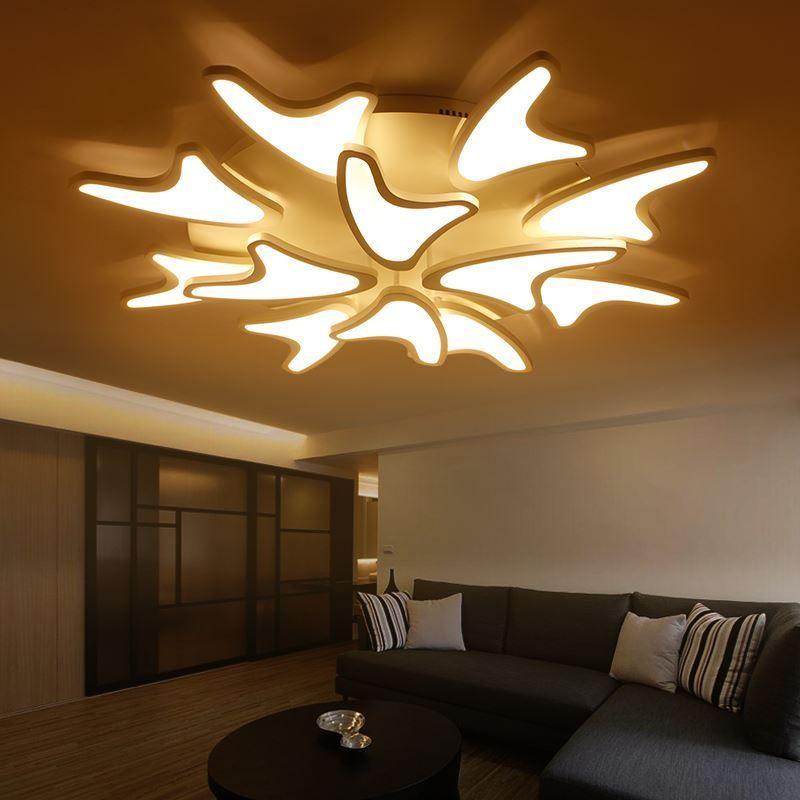 New Modern Led Acrylic Ceiling Lights for Living Room Bedroom Home ...