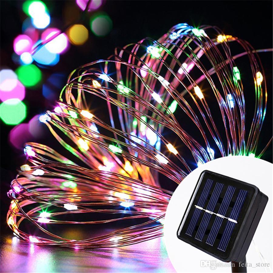 cheap 10m 100 led solar power string lights waterproof led light