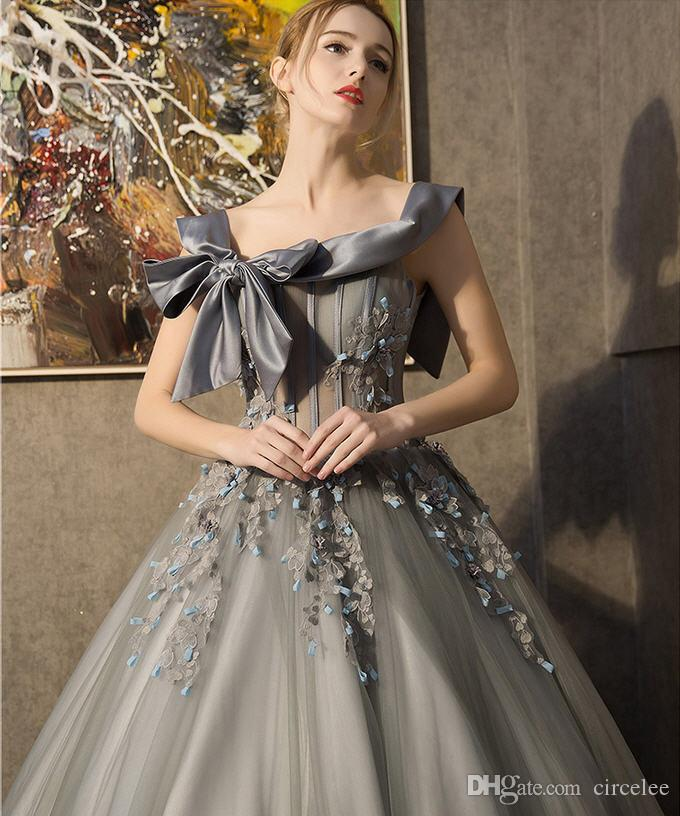Non Traditional Wedding Dresses: Non Traditional Grey Wedding Dresses A Line Princess Ball