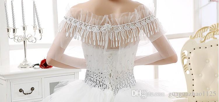 Новый 2017 горячий горячий стиль высокого класса алмазное ожерелье королева плечо цепи кисточкой свадебное платье аксессуары