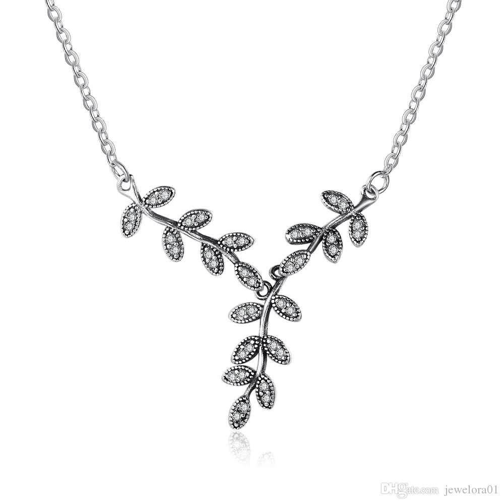 leaf four simulated sterling love products silvercloseout diamond clover necklace silver