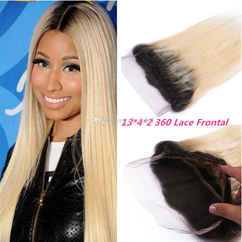 Dark Roots Blonde 360 Degree Lace Frontals 1b 613