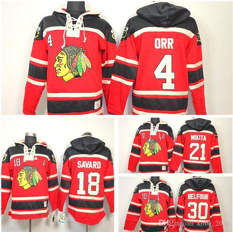reduced red hoodie 2017 chicago blackhawks old time hockey hoodie 4 bobby  orr 18 denis savard 5ce2e4ac6