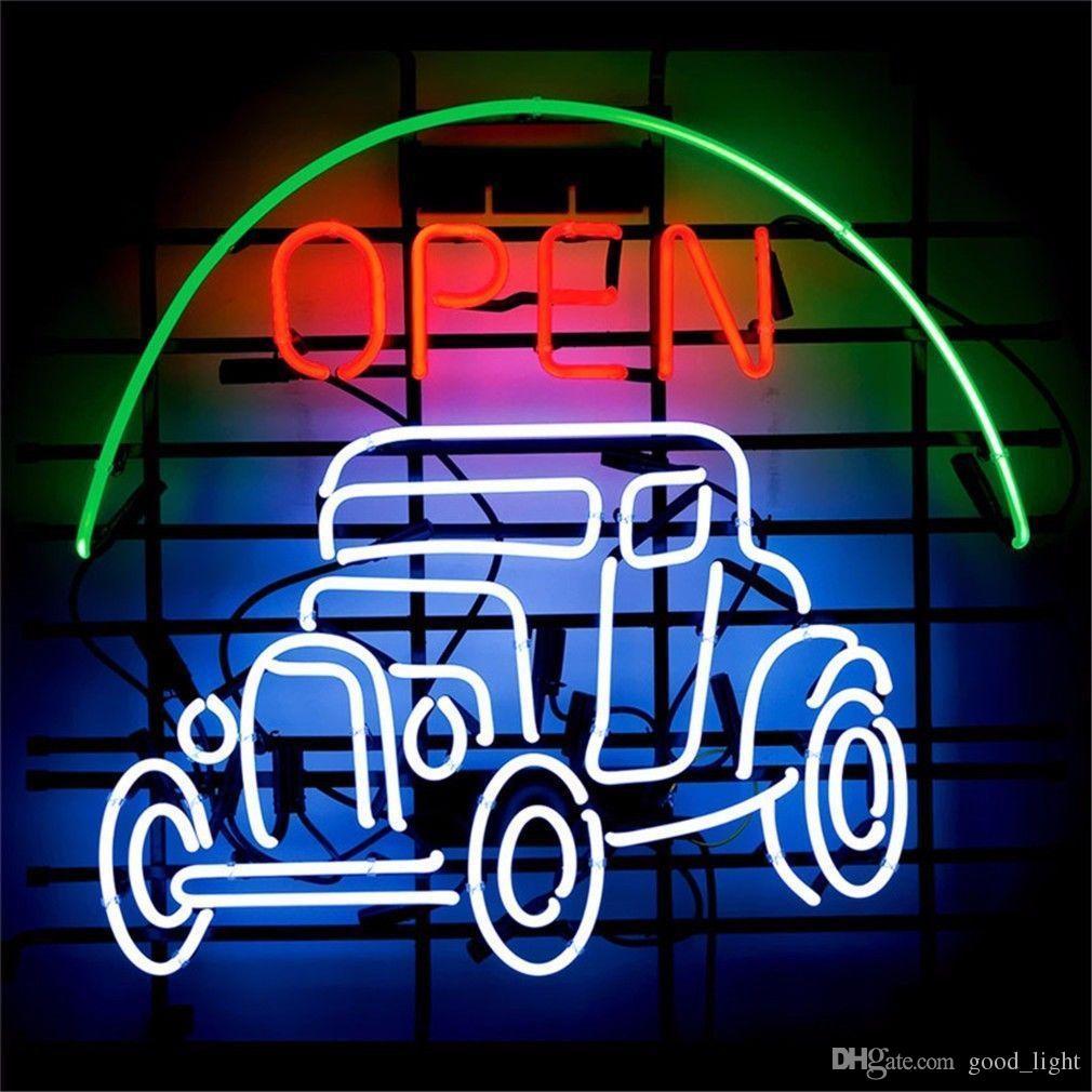 "17""x14"" Open Jeep Car NEON LIGHT SIGN Display Garage STORE BEER BAR CLUB Bar"