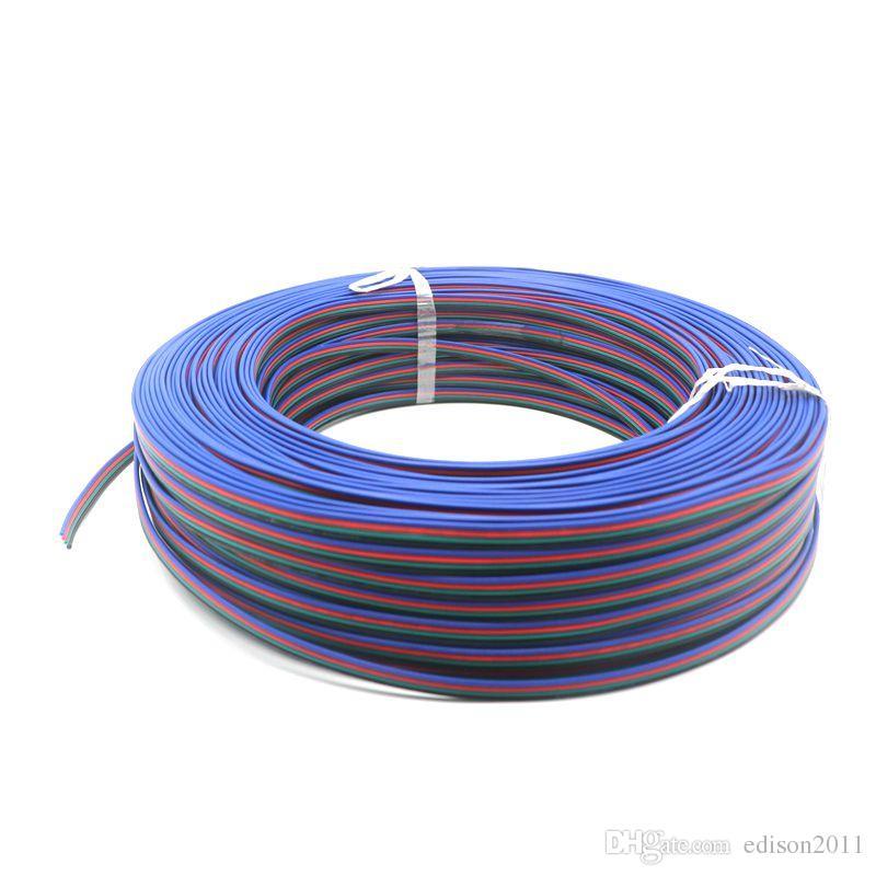 100m 4 Pin stagnato filo di rame, RGB Estensione del filo, cavo filo elettronico striscia 22AWG LED, fai da te Connect, spedizione gratuita