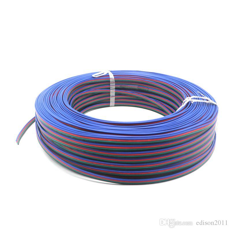 Edison2011 200m / lote 4pin Cable LED Accessories Uso para 5050/3528 RGB LED Strip Conect Cable Free Ship