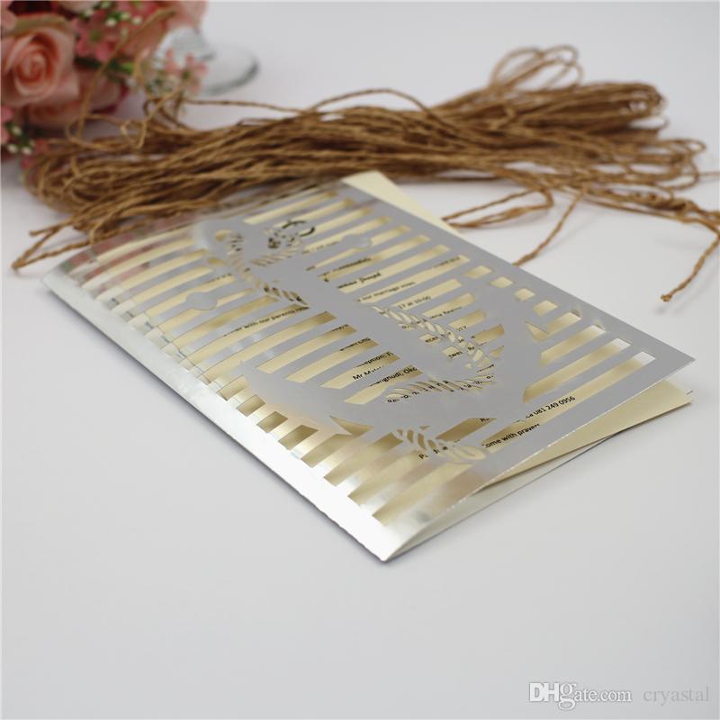 Astilla / rojo / azul marino papel flor tallada tarjetas de invitación patrón para la decoración del banquete de boda, envío gratis
