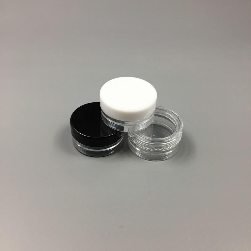 1 ML / 1G Frasco Vacío De Plástico Muestra de Cosmética Pote Claro Acrílico Maquillaje Sombra de Ojos Bálsamo Labial Nail Art Piece Contenedor Glitter Botella Viajes