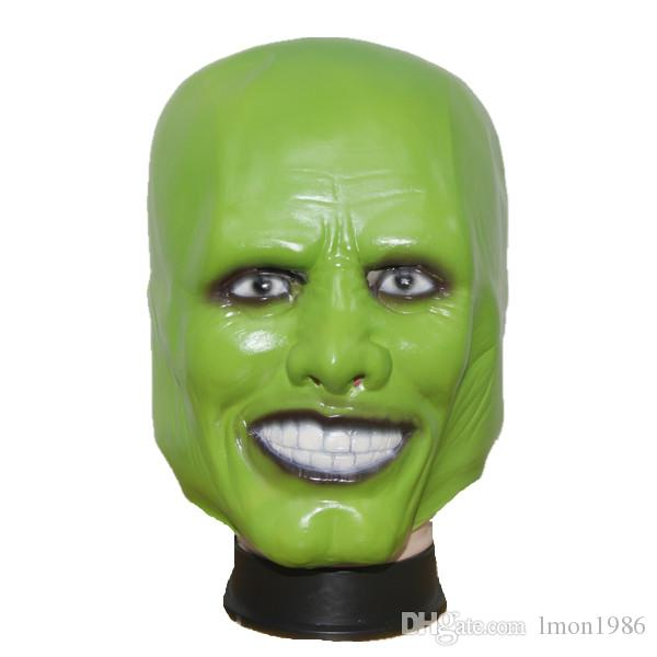 Wholesale Halloween Party Cosplay Movie LA MASCHERA Jim Carrey Mask - Costume di Halloween Prop Full Head Clown Loki Maschera Full Face Head Cap Toy