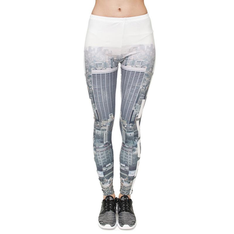 0496da10818 2019 Women Leggings New York City 3D Graphic Print Lady Skinny Stretchy  Yoga Wear Pencil Pants Casual Jeggings Sport Capris Trousers New J31746  From ...