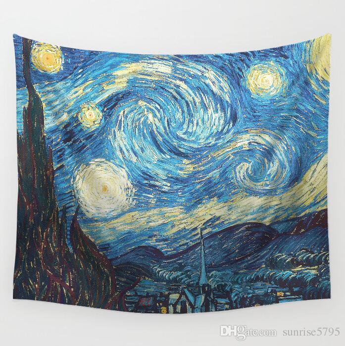 Espacio exterior tapiz spaceman luna estrella pared colgante arte noche paisaje oficina en casa tenture mural moderno alfombra