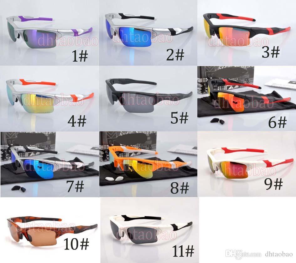 Moq = neue Qualitäts-Sport-Halbrandlose Farben-Film-polarisierte Sonnenbrille + Fall-Schutzbrille-im Freienfahrrad-Augen-Abnutzung 11 Farben geben Verschiffen frei