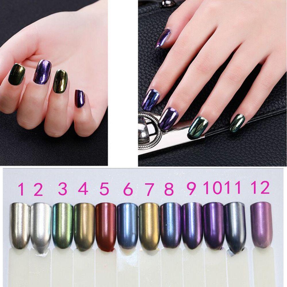 3g/Box Mirror Effect Powder For Nails Shining Magic Chrome Pigment ...