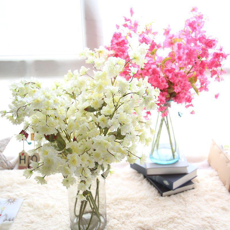 wholesale Chinese cherry blossom rose flower for home and wedding decoration artificial fake simulation flower