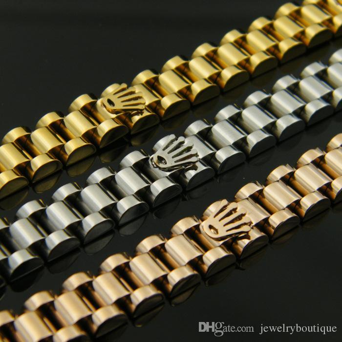 2017 neue ankunft 316l titanium stahl armband mit krone design in 17,5 cm-19,5 cm länge einstellbare größe für frauen und mann schmuck freies schiff