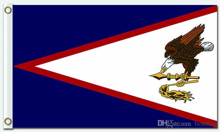 Bandeira do país da bandeira da Samoa Americana nos Banner de voar 100D poliéster Banners