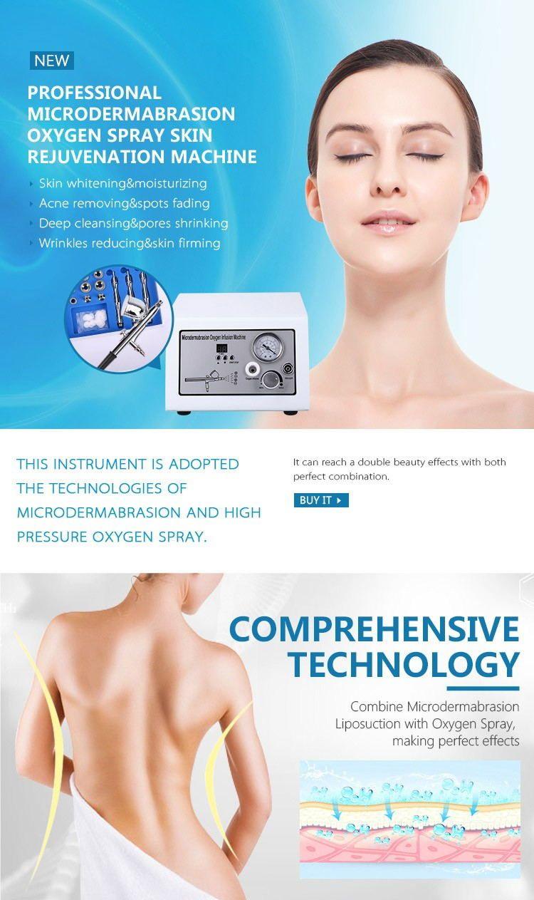 Portable microdermabrasion multi function/diamond dermabrasion/oxygen jet peel hydrodermabrasion machine