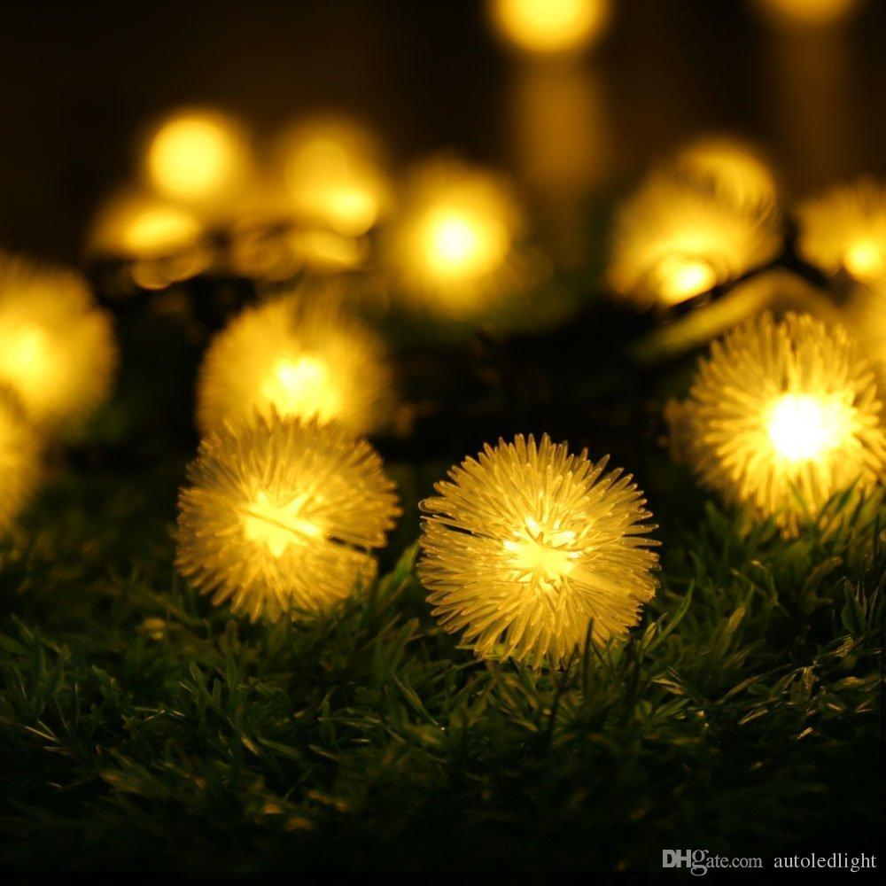 20 LED Solar Outdoor String Fairy Lights Chuzzle Ball Solar Powered Outdoor String Lights for Outside Garden Camping Patio Party Christ