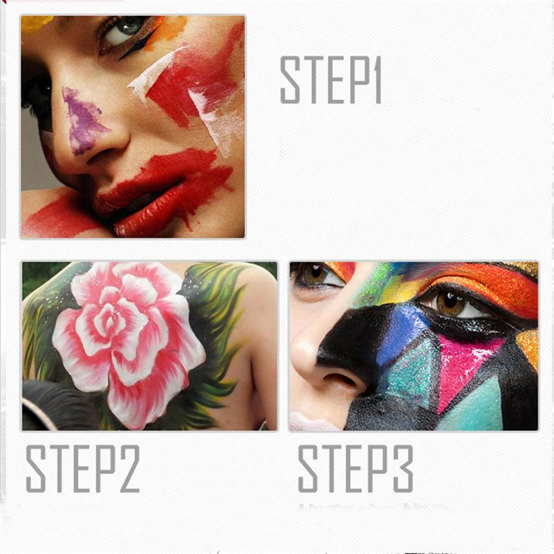 Flash Tattoo Face Body Paint Oil Painting Art Halloween Makeup Temporary Tatoos Glowing Painting Make Up Paint Pigments 2802038