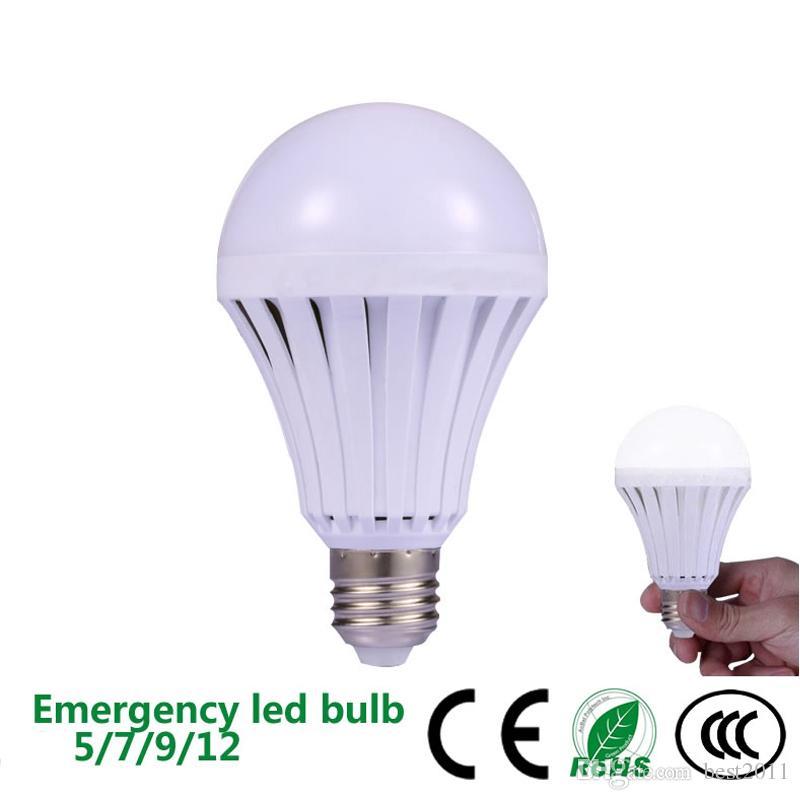 Lampe de secours 5W 7W 9W 12W de secours d'ampoules de LED de LED Utilisation manuelle / de contrôle automatique de 180 degrés de vendeurs de rue légers travaillant pendant 3-5 heures