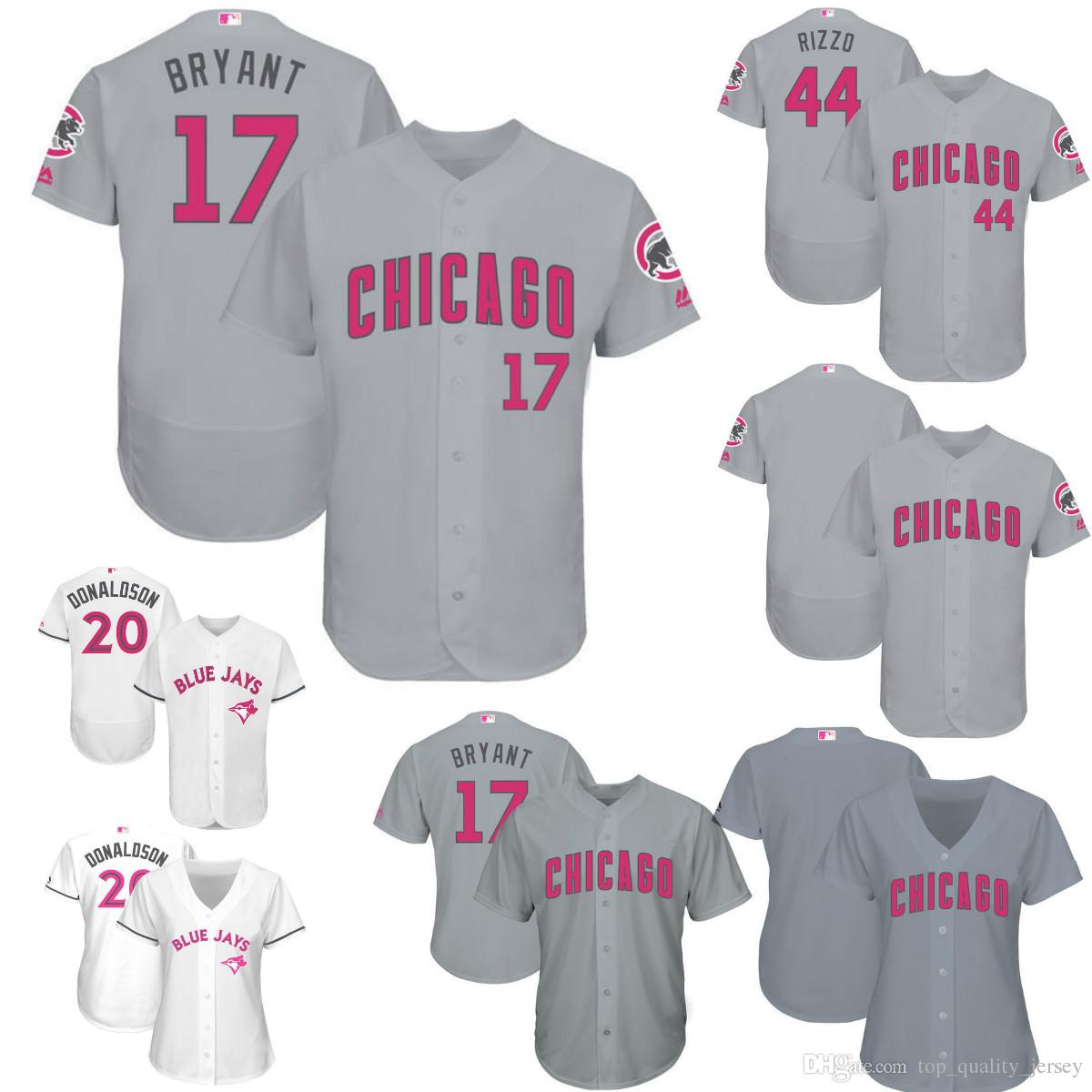 315977913b5 ... denmark 2017 custom mens womens youth chicago cubs mothers day baseball  jersey 17 kris bryant jersey