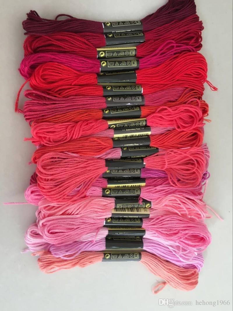 Kreuzstich Thread Solide String Handgewebte Baumwolle Stickgarne Kleidung Garn 8 Meter Branch Line Sewing Supplies Werkzeug 12qq D R