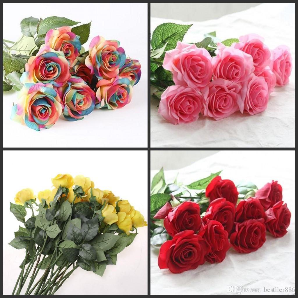 Artificial Flowers Online Cheap Images Flower Rose Pink Love