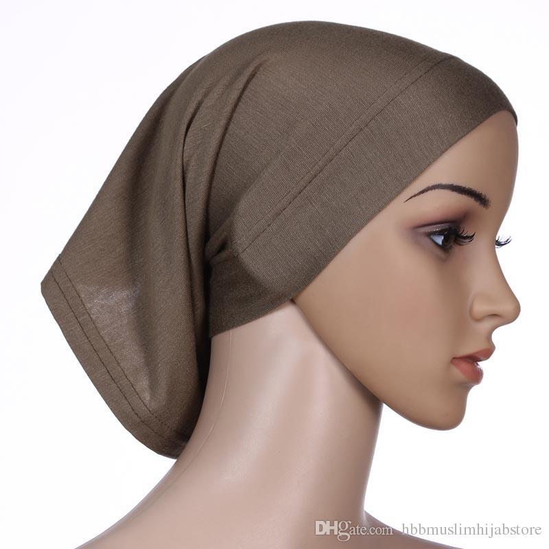 Хорошее качество внутренняя Абая крышка классический мерсеризованный хлопок мусульманская умма хиджаб underscraf мусульманский Джерси хиджаб шарф внутренняя крышка трубки крышка
