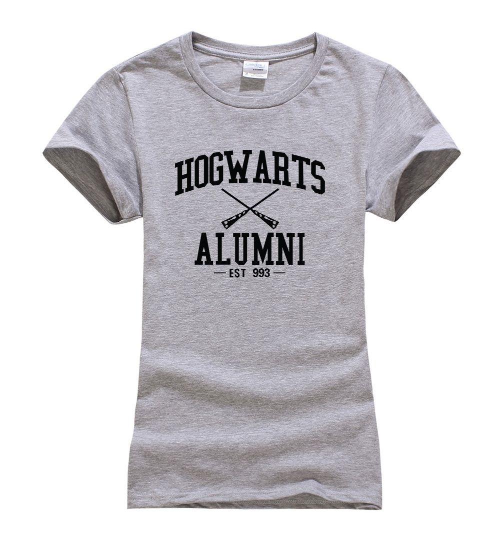 2017 Summer fashion harajuku short sleeve women T Shirt Hogwarts Alumni Camisetas funny hip-hop top brand clothing