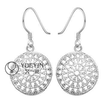 Al por mayor - el precio más bajo regalo de Navidad 925 Sterling Silver Fashion Earrings yE112