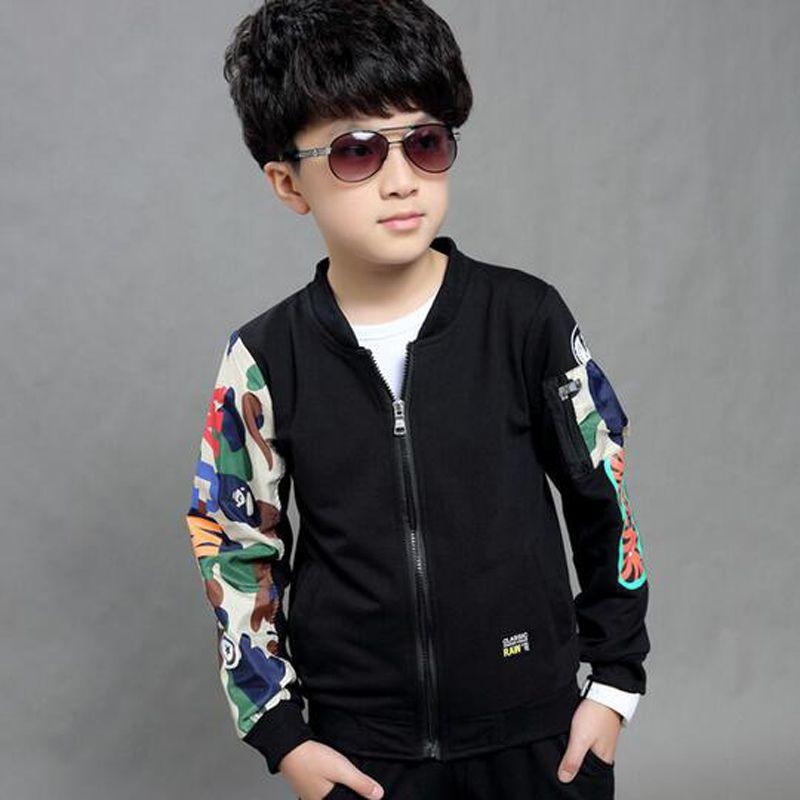 Neue frühling herbst mode jungen langärmeligen pullover jacken kinder baumwolle zweiteilige anzug jacke