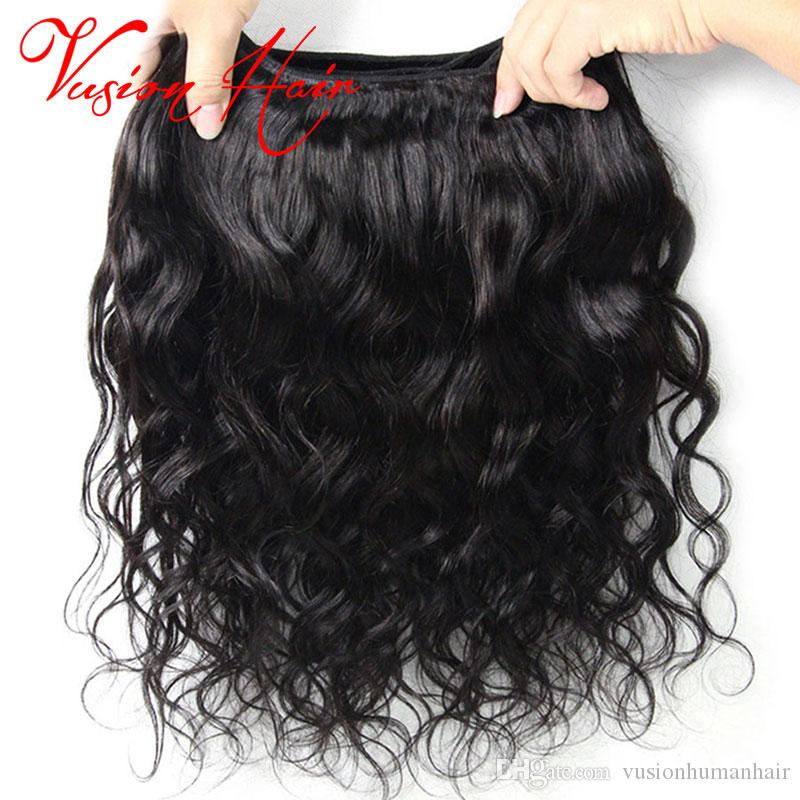 Body Vague Raw Virgin Hair Double Drawn Weaves non transformé humide onduleux de cheveux humains Weave Cheap Indien Malais Pérou Brésil