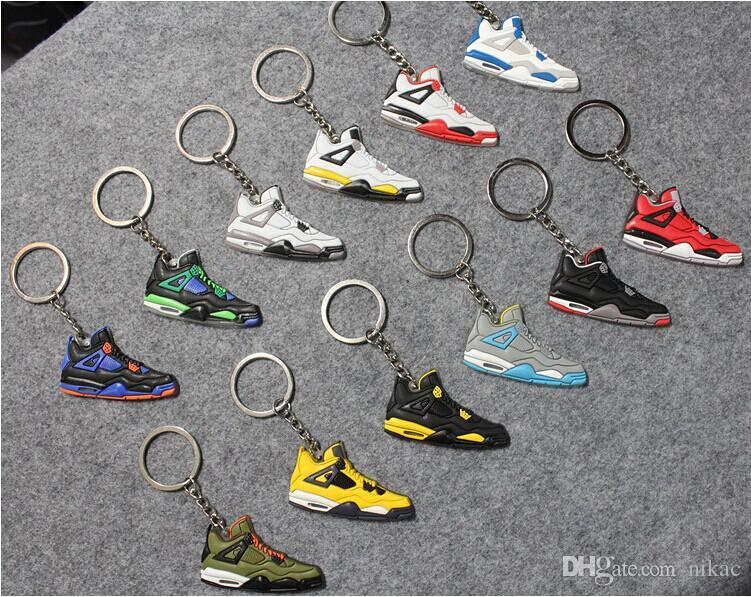 2017 hot fashion Basketball Shoes Keyrings Chain Rings Charm Sneaker Keychains Hanging Accessories small Sneakers keyring KeyChain