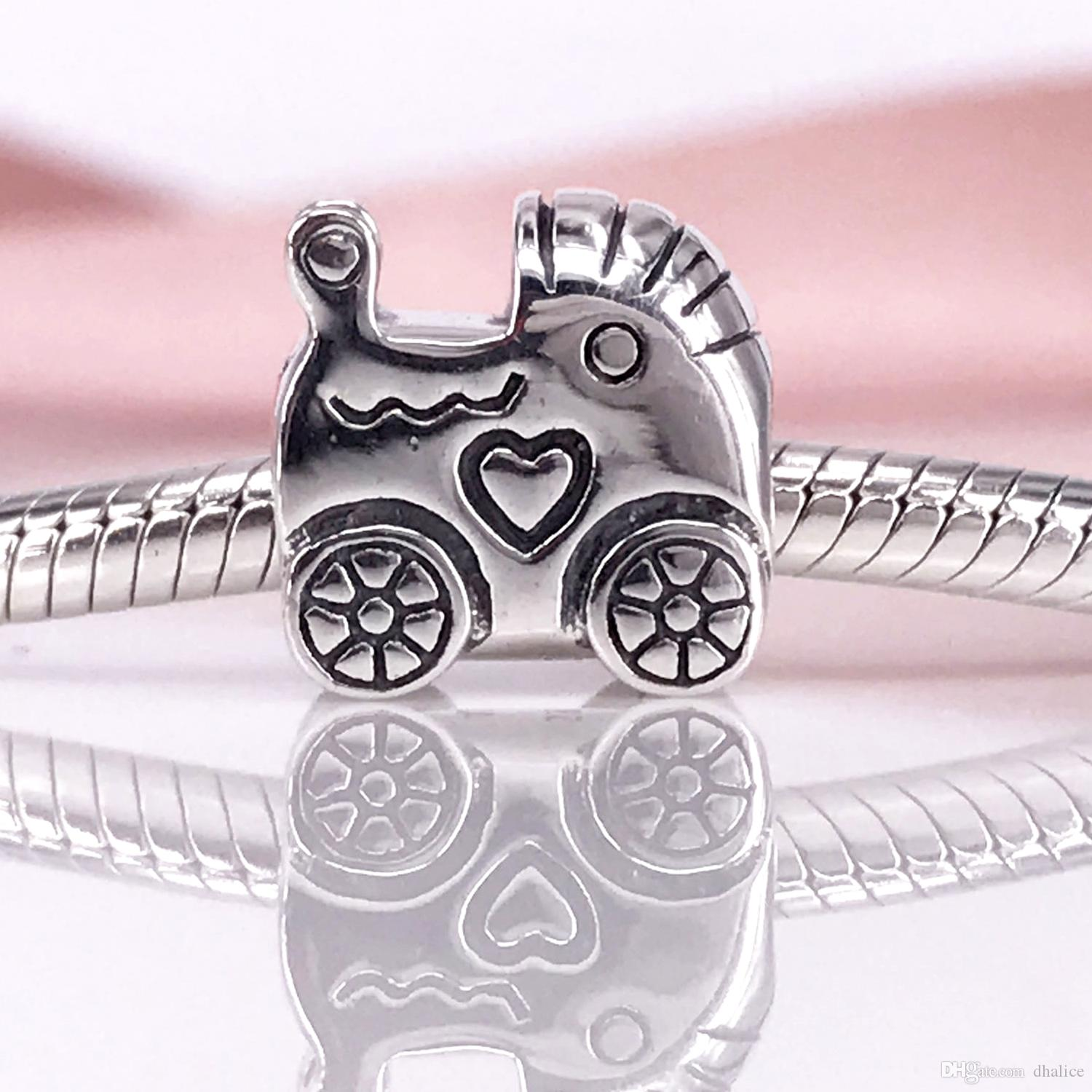 9833bedf8 Authentic 925 Sterling Silver Baby Carriage Charm Fit DIY Pandora ...