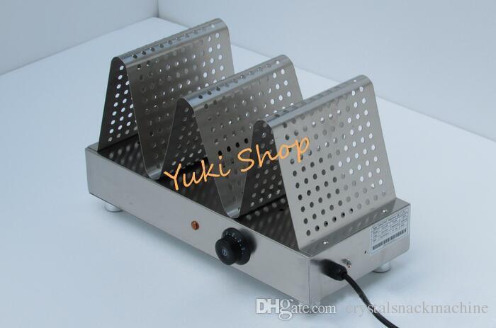 Ticari Yumurta Waffle Isıtıcı Paslanmaz Çelik Gıda Ekran Isıtıcı Vitrin Gıda Isıtıcı Waffle Ekran Makinesi Kahve Evi