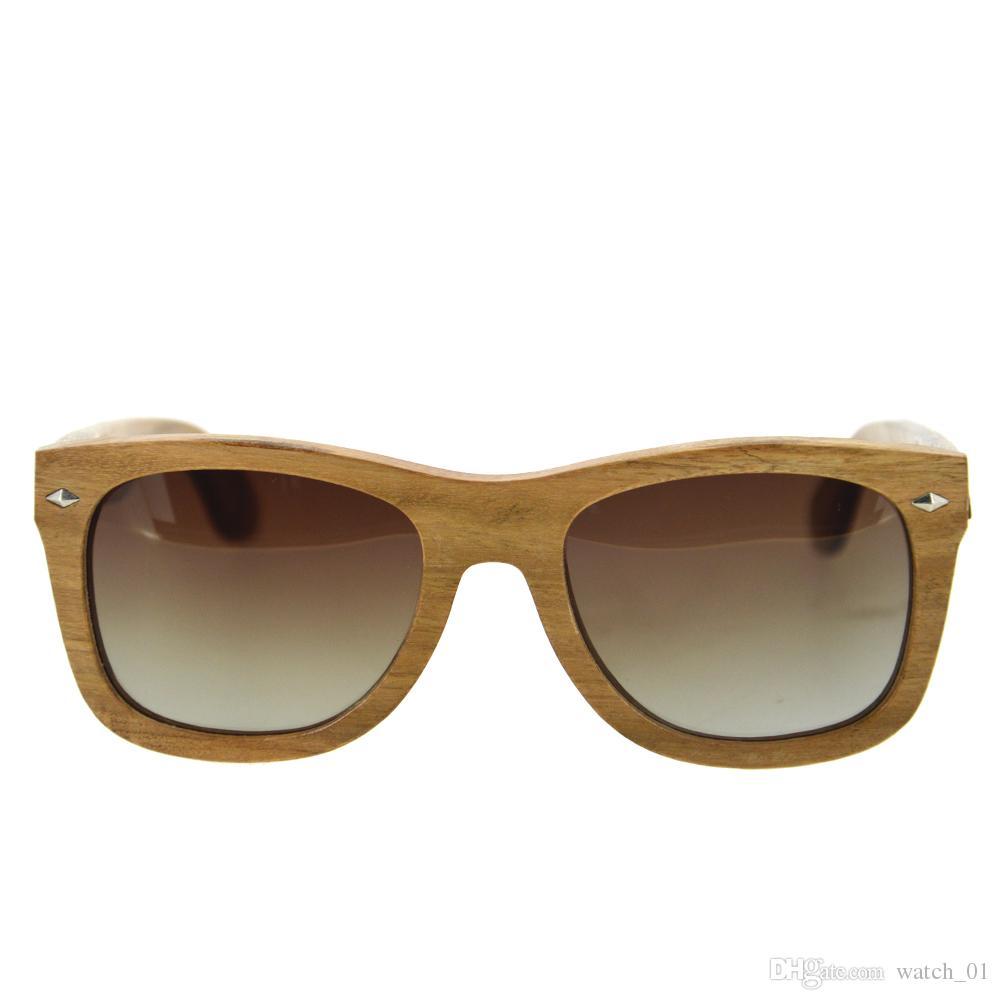 Polarized KOA Madera Gafas de sol Mujer Marca Diseñador de madera Marco au Retro Gafas de sol lunette de soleil femme Lente de madera retro hecho a ...