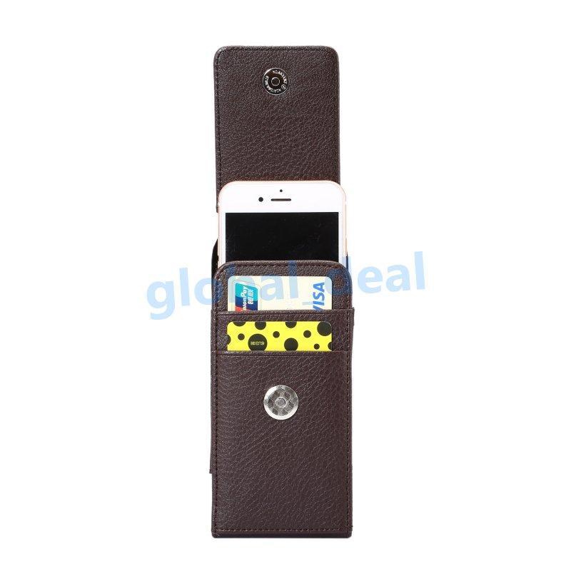 Бедра горизонтальные личи кожаный клип чехол для iPhone 7 6 6 S плюс 5 5S 5se Galaxy S8 S7 Edge S6 Примечание 5 4 пряжки 360 градусов ремень сумка