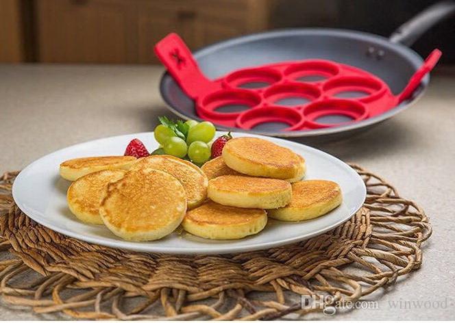 Egg Mold Bakeware Flippin Fantastic Fast Easy Way to Make Pancakes Egg Ring Maker Nonstick Pancake Maker Baking Moulds Mold