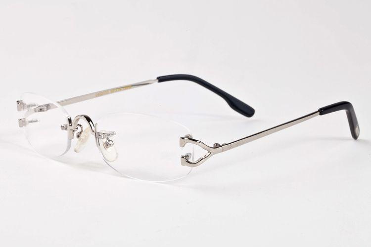 Очки металлические очки оправа рамка для мужчин женщин золото чтение рецепт очки Очки дизайнер солнцезащитные очки с коробкой