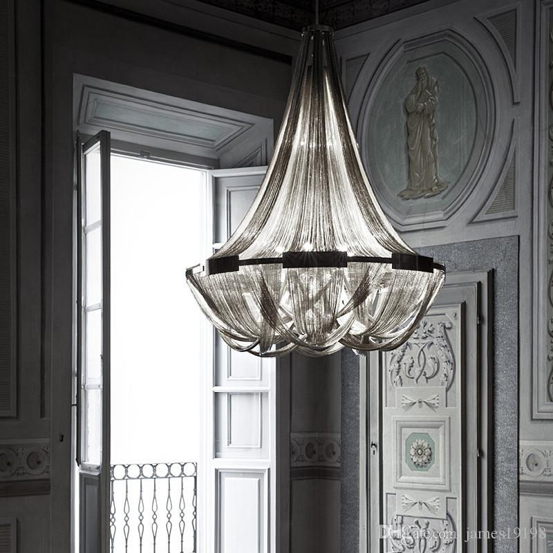 Catena LED nappa a sospensione in alluminio lampada lusso moderna lampada a sospensione a soffitto le lampade Living Room Dinning Room Home Decor PA0018