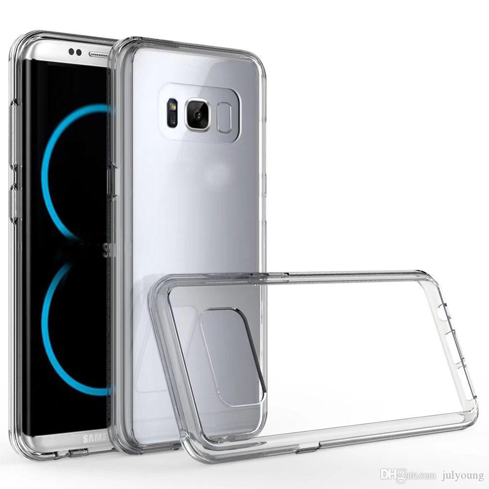S8 Case Shockproof Clear Hybrid Hard Plastic Cases For Galaxy Metal Bumper With Brushed Cover Samsung A5 2017 A520 Plusfor Lg Lv5 K10 Frame Soft Tpu Dual Armor Skin Card Id Slot Money Pocket